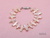 pink round and biwa freshwater pearl bracelet