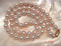 7.3mm white round seawater pearl necklace