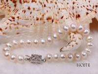 8-9mm white flat freshwater pearl bracelet