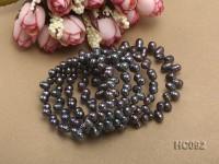 5 strand black freshwater pearl bracelet