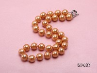12mm reddish bronze round seashell pearl necklace