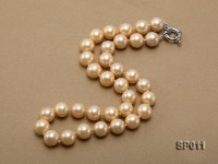 12mm golden round seashell pearl necklace