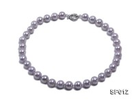 12mm greyish lavender round seashell pearl necklace