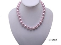 12mm purple round seashell pearl necklace