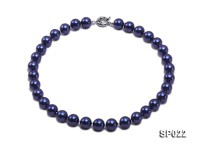 12mm dark blue round seashell pearl necklace