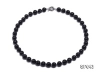 10mm black round seashell pearl necklace