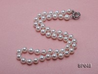 8mm White Round Seashell Pearl Necklace