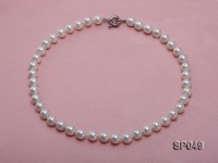 10mm White Round Seashell Pearl Necklace