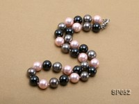 12mm multicolor round seashell pearl necklace