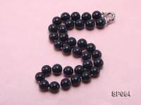 12mm black round seashell pearl necklace