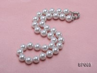 12mm white round seashell pearl necklace