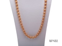 12mm bronze round seashell pearl opera necklace