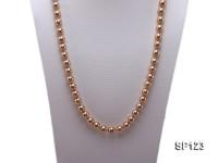10mm deep coffee round seashell pearl opera necklace