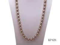 14mm coffee round seashell pearl necklace