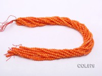 Wholesale 4.5mm Round Orange Coral Beads Loose String