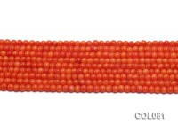 Wholesale 4.5mm Round Red Coral Beads Loose String