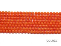 Wholesale 5.5mm Round Red Coral Beads Loose String