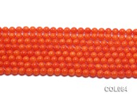 Wholesale 6mm Round Orange Coral Beads Loose String