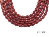 Wholesale 8x13mm Oval Red Sponge Coral Beads Loose String