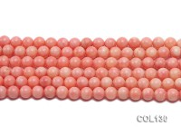 Wholesale 9mm Round Pink Coral Beads Loose String