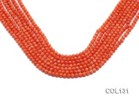 Wholesale 4-4.5mm Round Orange Coral Beads Loose String