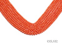 Wholesale 4.5-5mm Round Pink Coral Beads Loose String