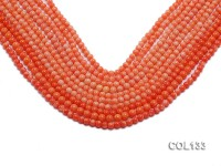 Wholesale 4.5-5mm Round Orange Coral Beads Loose String