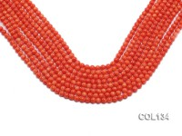Wholesale 5-5.5mm Round Salmon Pink Coral Beads Loose String