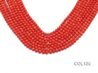 Wholesale 6-6.5mm Round Salmon Pink Coral Beads Loose String