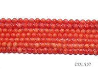 Wholesale 6.5-7mm Round Salmon Pink Coral Beads Loose String