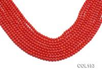 Wholesale 5-6mm Round Orange Coral Beads Loose String
