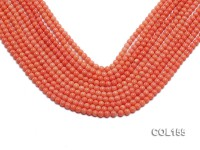 Wholesale 5mm Round Pink Coral Beads Loose String