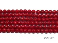 Wholesale 8-8.5mm Round Red Coral Beads Loose String