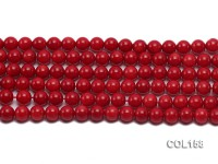 Wholesale 8.5-9mm Round Red Coral Beads Loose String