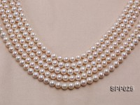 9-10mm High-quality Perfectly Round Pink Seawater Pearl String