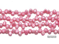 Wholesale 7x9mm  Side-drilled Cultured Freshwater Pearl String