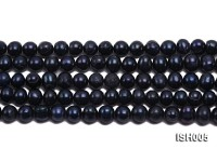 Wholesale 8-9mm Dark Purple Side-drilled Cultured Freshwater Pearl String