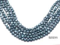 Wholesale 7X9mm Grey Blue Flat  Freshwater Pearl String