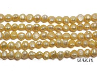 Wholesale 7-8mm  Flat  Freshwater Pearl String
