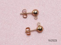 5mm 14k Yellow Gold Earring Post