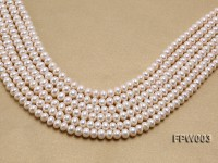 Wholesale 7×8.5mm Classic White Flat Cultured Freshwater Pearl String