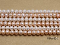 Wholesale 9x10mm Flat Cultured Freshwater Pearl String
