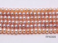Wholesale 6x8mm Natural Pink Flat Cultured Freshwater Pearl String