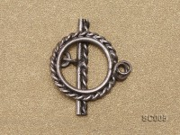 Single-strand Sterling Silver Toggle Clasp