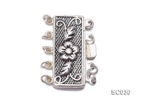 12*25mm Vintage Five-strand Sterling Silver Clasp