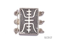 12*17mm Three-strand Sterling Silver Clasp