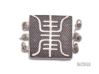 18mm Three-strand Sterling Silver Clasp