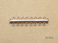 3.8mm Eight-strand Magnetic Sterling Silver Bar Clasp