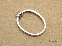 22*30mm Single-strand Magnetic Sterling Silver Clasp