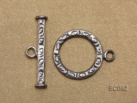 22mm Single-strand Sterling Silver Toggle Clasp